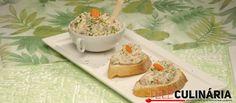 Receita de paté de atum. Descubra como preparar esta receita de paté de atum de maneira deliciosa e prática com a TeleCulinária!