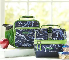 Mackenzie Blue Dino Lunch Bags | Pottery Barn Kids