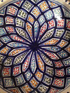 Tunisia hand painted pottery
