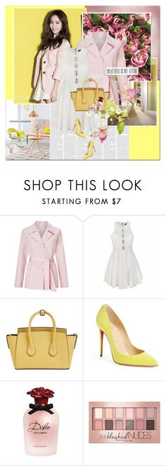 """""""Peony"""" by rainie-minnie ❤ liked on Polyvore featuring John Lewis, Ally Fashion, Bally, Christian Louboutin, Dolce&Gabbana, Maybelline and Essie"""