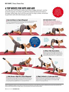 Tracy Anderson as seen in Health magazine 4 Top Movies Hips and Abs Kettlebell Workouts For Women, Fitness Workout For Women, At Home Workouts, Body Workouts, Tracy Anderson Workout, Tracy Anderson Method, Gym Workout Videos, Workout Memes, Workout Plans