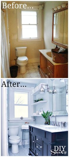 before and after 20 awesome bathroom makeovers diy bathroom remodel bathroom makeovers and budgeting