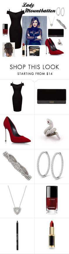 """Theodora - Wedding"" by torib795 ❤ liked on Polyvore featuring Balmain, Casadei, Dana Rebecca Designs, Chanel, Urban Decay, L'Oréal Paris and Christian Dior"