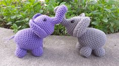 Free Elephant Amigurumi Crochet Pattern   Hooked by Kati