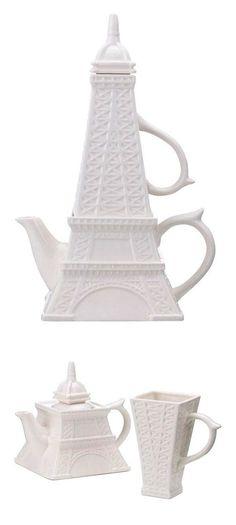 Eiffel Tower Tea for One Set ~ Cute! | Fab      ᘡղbᘠ