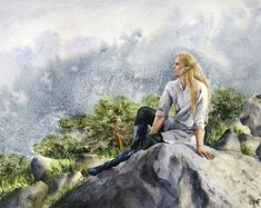 Angrod in Dorthonion by Filat Watch Report Traditional Art / Paintings / Illustration / Filat Glorfindel, Morgoth, Legolas, Tolkien, Fantasy World, Fantasy Art, Middle Earth, Lord Of The Rings, The Hobbit