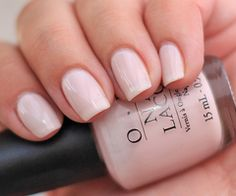 """Perfect french tip mani"" said a pinner, nope it's not it's the way that opi bubble bath dries(: gives that effect"