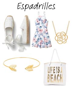 """""""Espadrilles"""" by toesnsand-1 ❤ liked on Polyvore featuring Hollister Co., Nasty Gal and Lord & Taylor"""