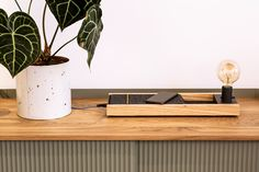 Illuminated Docking Station with USB charger for 5 devices. To give serenity and the feel of quality while charging in high style. Smart Design, Docking Station, Interior Accessories, Interior Lighting, Floating Nightstand, Serenity, Charger, Deck, Usb