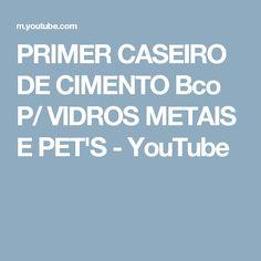 PRIMER CASEIRO DE CIMENTO Bco P/ VIDROS METAIS E PET'S - YouTube
