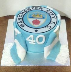 Manchester city scarf cake