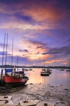 The Deben Estuary at dawn - Waldringfield, Suffolk, England