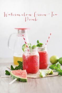 * magnoliaelectric: YYY - YummY fridaY {Watermelon Green-Tea Drink}
