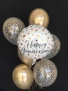 Excited to share this item from my shop: Anniversary Balloons, Golden Anniversary Party Decorations, Gold Chrome & Gold Confetti Balloons, Gold Anniversary, Anniversary Balloons 50th Wedding Anniversary Decorations, 30th Anniversary Parties, Happy Anniversary Wishes, Golden Wedding Anniversary, Anniversary Ideas, Second Anniversary, Wedding Aniversary, Anniversary Surprise, Anniversary Funny