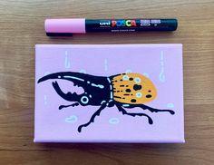Hercules Beetle as I get back into more Posca work! : Illustration