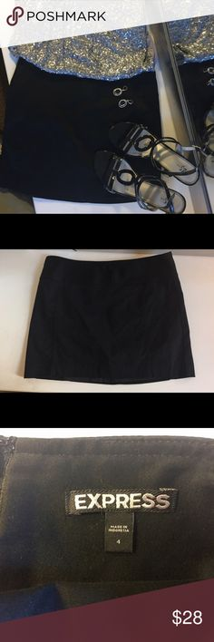 Express Black Mini Classic Skirt Gorgeous Express Back Zip up Skirt.  A Perfect Basic For Everyone's Closet.  Bundle other products shown with skirts.  Preowned like New! Express Skirts Mini