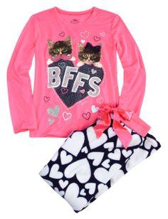 Super Soft Fleece Bff Pajama Set | Girls Pajamas Pjs, Bras & Panties | Shop Justice