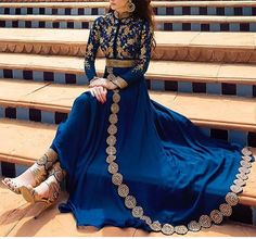 indian fashion Anarkali -- Click Visit above for more options Indian Fashion Online, Asian Fashion, Indian Attire, Indian Wear, Pakistani Outfits, Indian Outfits, Desi Clothes, Indian Designer Wear, Looks Style