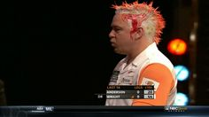 Pro Dart players crazy hair