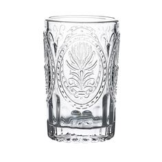 Flaunt your cocktails in true elegance with these Cora Vintage Tumblers! With a renaissance design and ribbed base.
