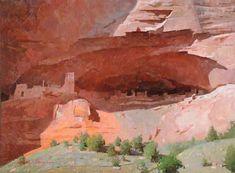 Canyon de Chelly by Calvin Liang - Insight Gallery Watercolor Landscape, Landscape Art, Landscape Paintings, Desert Art, Southwest Art, Wow Art, Portraits, Traditional Paintings, Contemporary Landscape