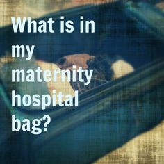 maternity hospital bag checklist. I'm gonna love myself for pinning this one day.