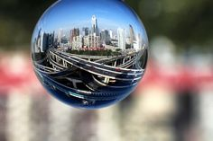 Images that work well as a wide angle photo also work well inside a crystal ball.