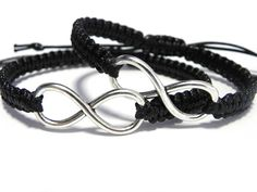 Couples Infinity Bracelets - Anniversary Gift by ElwynJewelry