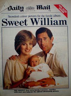 Sweet William:  Birth of Prince William 1982
