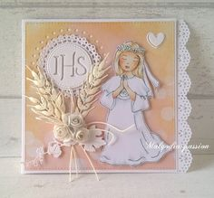 First Communion Cards, Clip Art, Card Ideas, Handmade, First Holy Communion, Molde, Paper, Cards, Bags