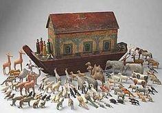 wooden noah's ark | Antique Noah's Ark