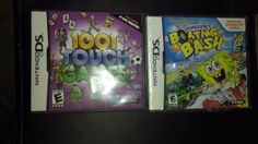 2 Nintendo DS games for 1 price: 1001 touch games/ SpongeBob Boating Bash