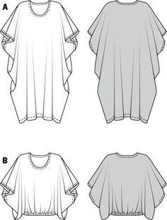 Бохо: выкройки туник, накидок, платьев