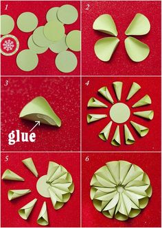 Cone Star Ornaments/Bow Tutorial at Design Dazzle; these could be cute tags with the right Christmas paperHow to make a Cone Star Ornament featured on Design DazzleCircles to medallion DIY paper crafts & party or holiday decorations. Handmade Flowers, Diy Flowers, Fabric Flowers, Paper Flowers, Paper Rosettes, Paper Ornaments, Ornaments Design, Diy Paper, Paper Crafts