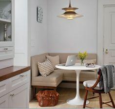 Elegant Eckbankgruppe Landhausstil Küche Einrichtung