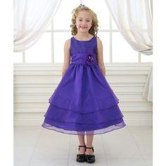 cd6d0788c Calla Collection Big Girls Purple Floral Sash Junior Bridesmaid Dress 10,  Girl's Plum Flower Girl