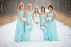 Wedding Winter Bridesmaids Dresses Blue Ideas For 2019 Tiffany Bridesmaid Dresses, Winter Bridesmaid Dresses, Winter Bridesmaids, Wedding Bridesmaid Dresses, Wedding Bouquets, Bridesmaid Ideas, Dusty Blue, Navy Blue, Royal Blue