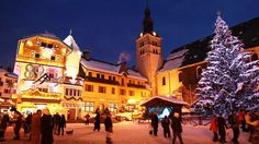 Megeve village at Christmas. Christmas Jesus, Christmas Love, Snowboard, Austria Tourism, European Holidays, Chalet Style, Deck The Halls, Time Of The Year, Holidays And Events