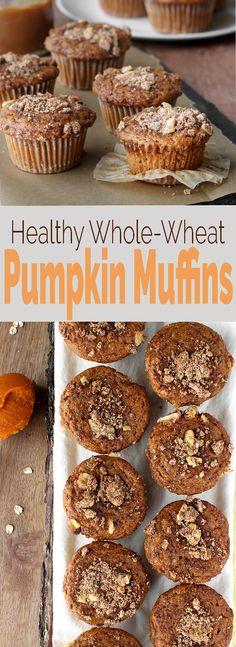 One bowl Whole Grain Pumpkin Muffins with a secret healthy ingredient: yogurt! Healthy, easy to make and seriously satisfying. via @Simply Sissom