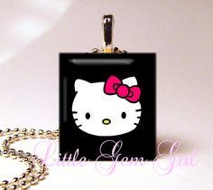 040beb180504 Hello Kitty Tile Pendant necklace~ Hello Kitty Jewelry