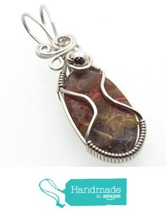 Fancy Jasper Gemstone Sterling Silver Wire Wrapped Pendant from Angelleesa Designs https://www.amazon.co.uk/dp/B01M0B2YNI/ref=hnd_sw_r_pi_dp_lCM7xbHGA0SD2 #handmadeatamazon