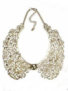 ce514a9871d7  14.40 Gold Hollowed Carving Detachable Collar Necklace Moda 2015