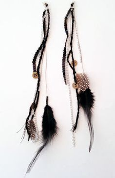 AD+SH DIY Fashion Blog: DIY Dream Catcher Inspired Feather Earrings