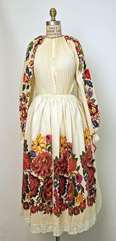 Ensemble, 1971, Croatian, cotton, silk and leather via Metropolitan Museum of Art