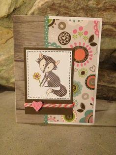 Scrapbook with Kira: Lollydoodle Fox Card