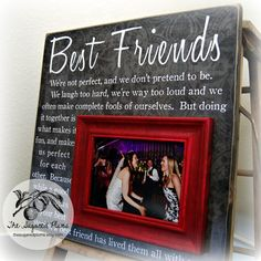 Ideas diy gifts for bff christmas ray bans Best Friend Wedding Gifts, Best Friend Gifts, Gift Wedding, Trendy Wedding, Best Friend Frames, Dream Wedding, Wedding Dress, Maid Of Honour Gifts, Maid Of Honor