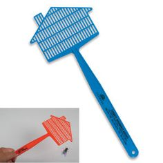 Perfect for Realtors, Mortgage Lenders, Pest Control Companies, Service / Repair companies, Insurance Companies and more!  Hand out these useful house shaped fly swatters to clients and employees to let them know that you are there to lend them a hand when in need. Useful for outdoor events such as picnics and camping trips. Made in USA.
