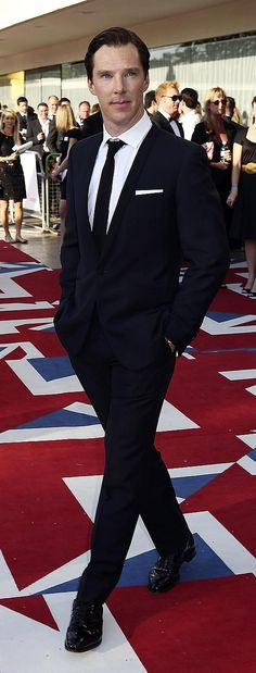 Cause every girl is crazy about a sharp dressed man....(Benedict Cumberbatch)