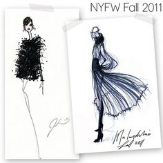 Love how stylized these fashion illustrations are