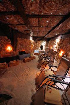Asheville Salt Cave in the Blue Ridge Mountains of North Carolina.